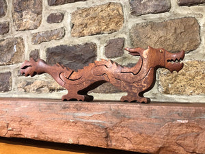 Chinese Dragon Puzzle in Mahogany