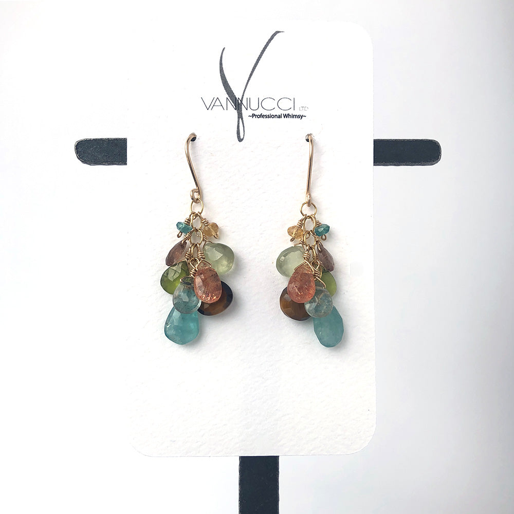 Cluster Earrings in Cove - Heart of the Home PA