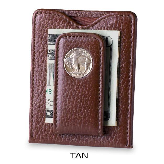Buffalo Nickel Money Clip Wallet in Tan - Heart of the Home PA