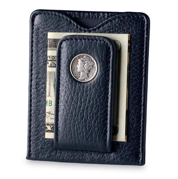 Mercury Dime Money Clip in Black - Heart of the Home PA