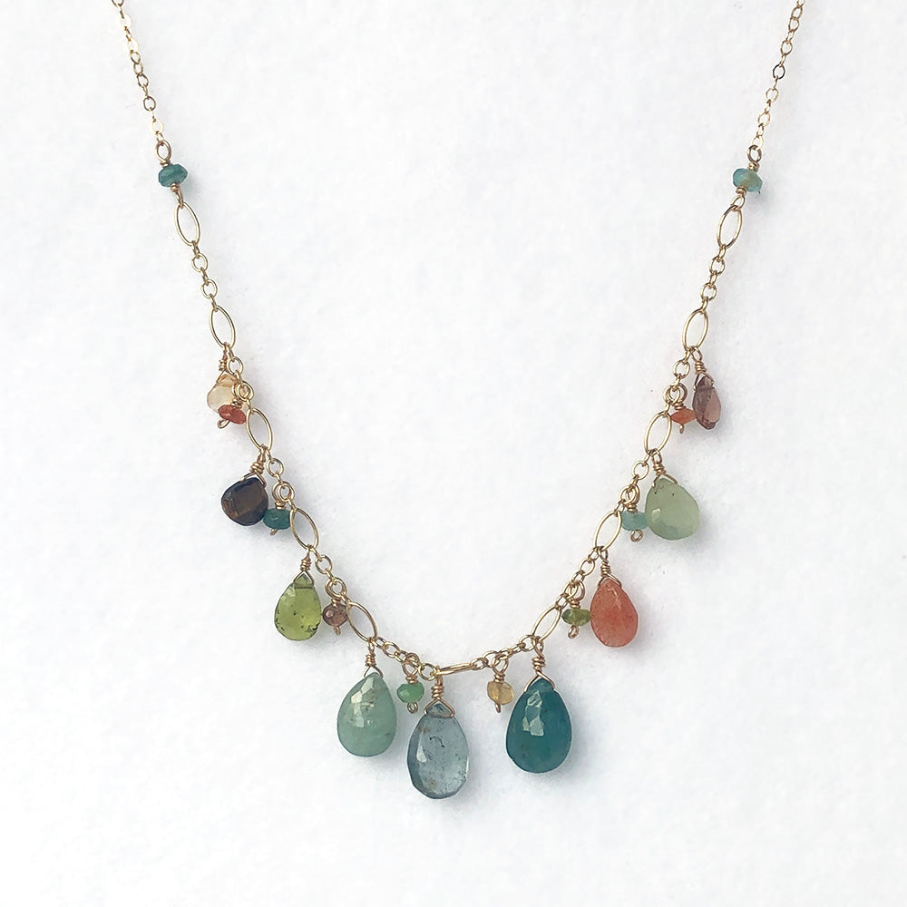 Dripping Necklace in Cove - Heart of the Home PA
