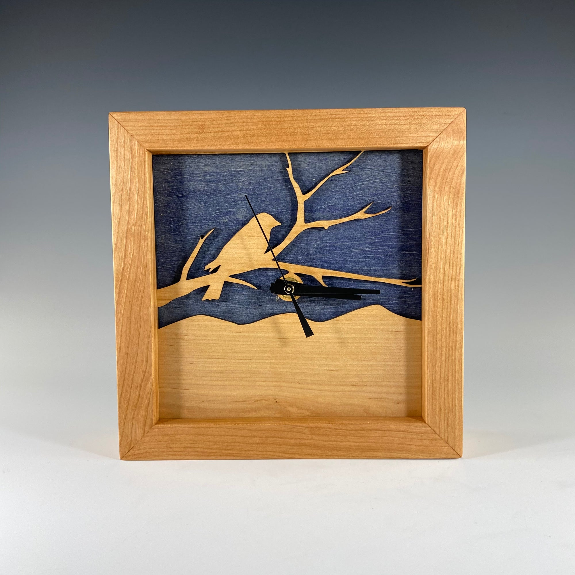Box Clock - Bird on a Branch - Heart of the Home PA