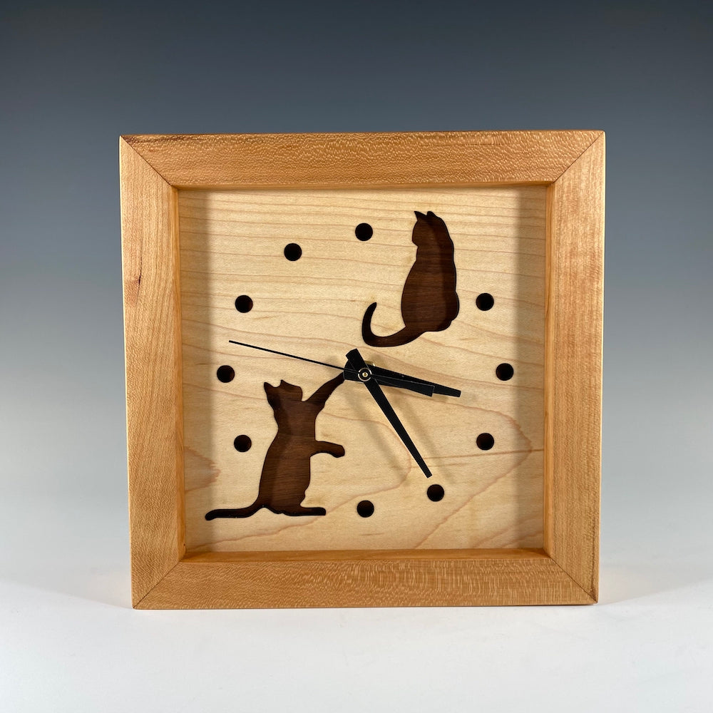 Box Clock - Cats at Play - Heart of the Home PA
