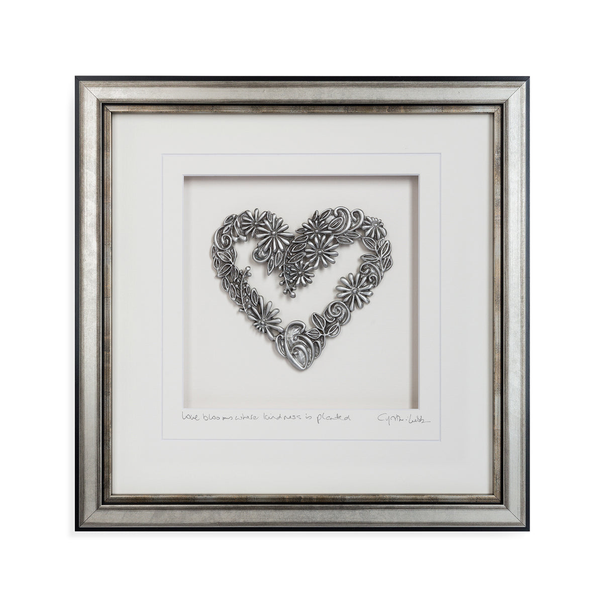 Flower Heart Framed Wall Art - Heart of the Home PA