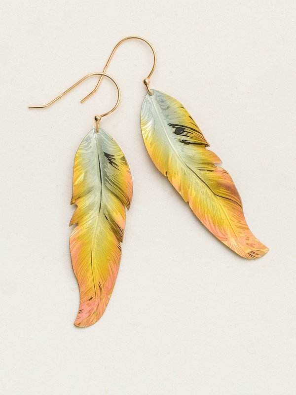 Free Spirit Feather Earring - Heart of the Home PA
