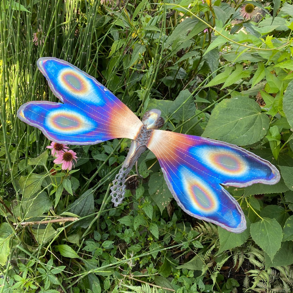 Dragonfly Sculpture on Garden Stake - Heart of the Home PA