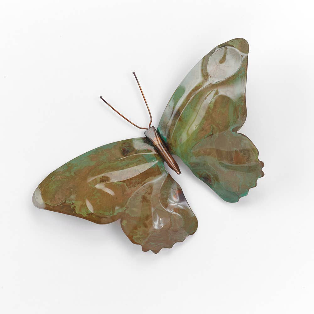 Copper Patina Butterfly Garden Stake - Heart of the Home PA
