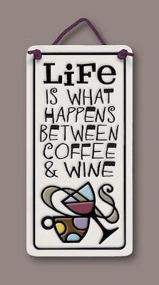 Coffee & Wine Wall Plaque - Heart of the Home PA