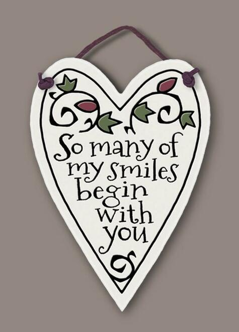 So Many Smiles Wall Plaque - Heart of the Home PA