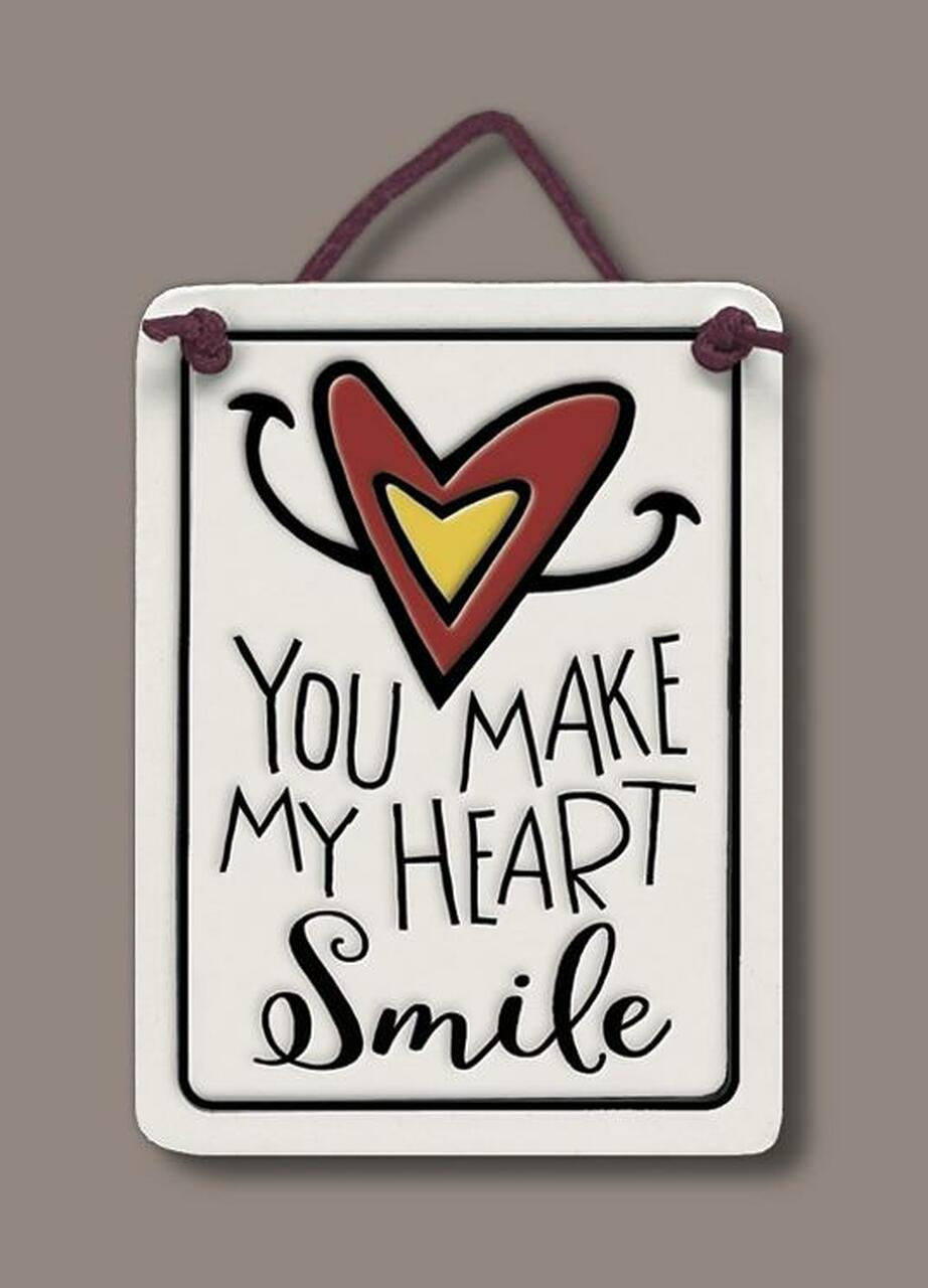 Heart Smile Wall Plaque - Heart of the Home PA