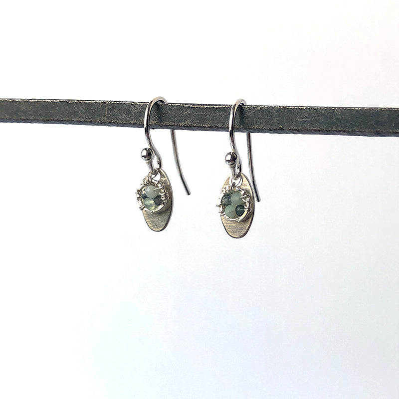 Green and Ovals Earrings - Heart of the Home PA
