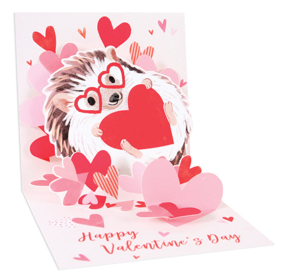 Hedgehog Love Pop-Up Card - Heart of the Home PA