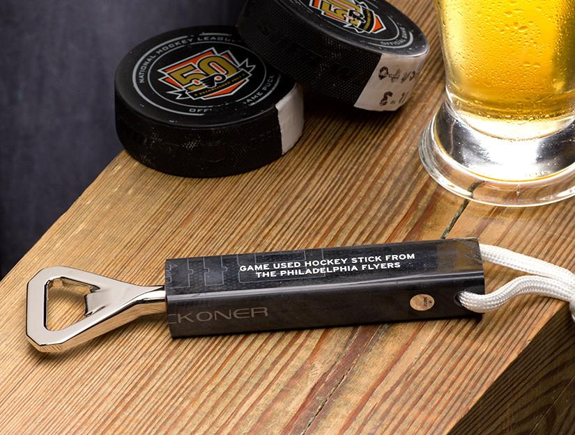 Philadelphia Flyers Game Used Stick Bottle Opener - Heart of the Home PA