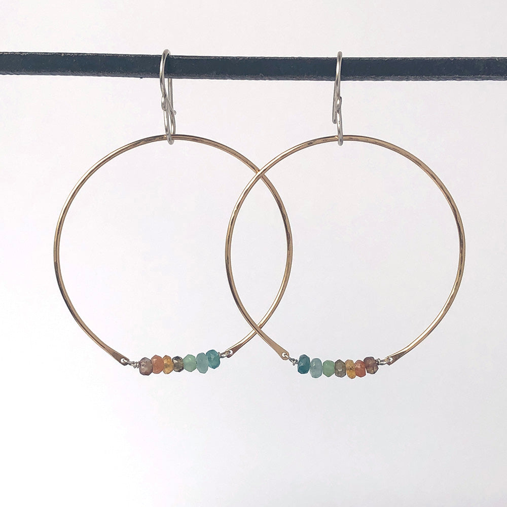 Hoop Earrings in Cove - Heart of the Home PA