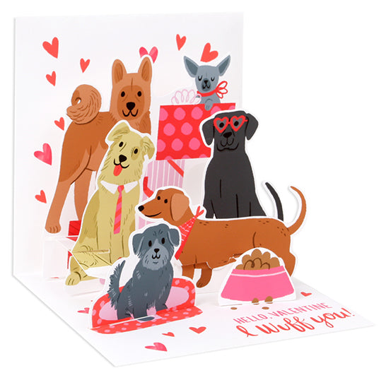 I Wuff You Valentine Pop-Up Card - Heart of the Home PA