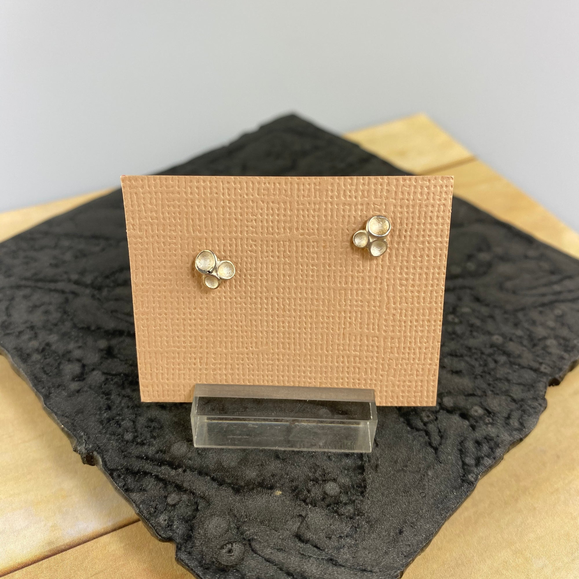 Petite Tripod Post Earrings in Silver - Heart of the Home PA