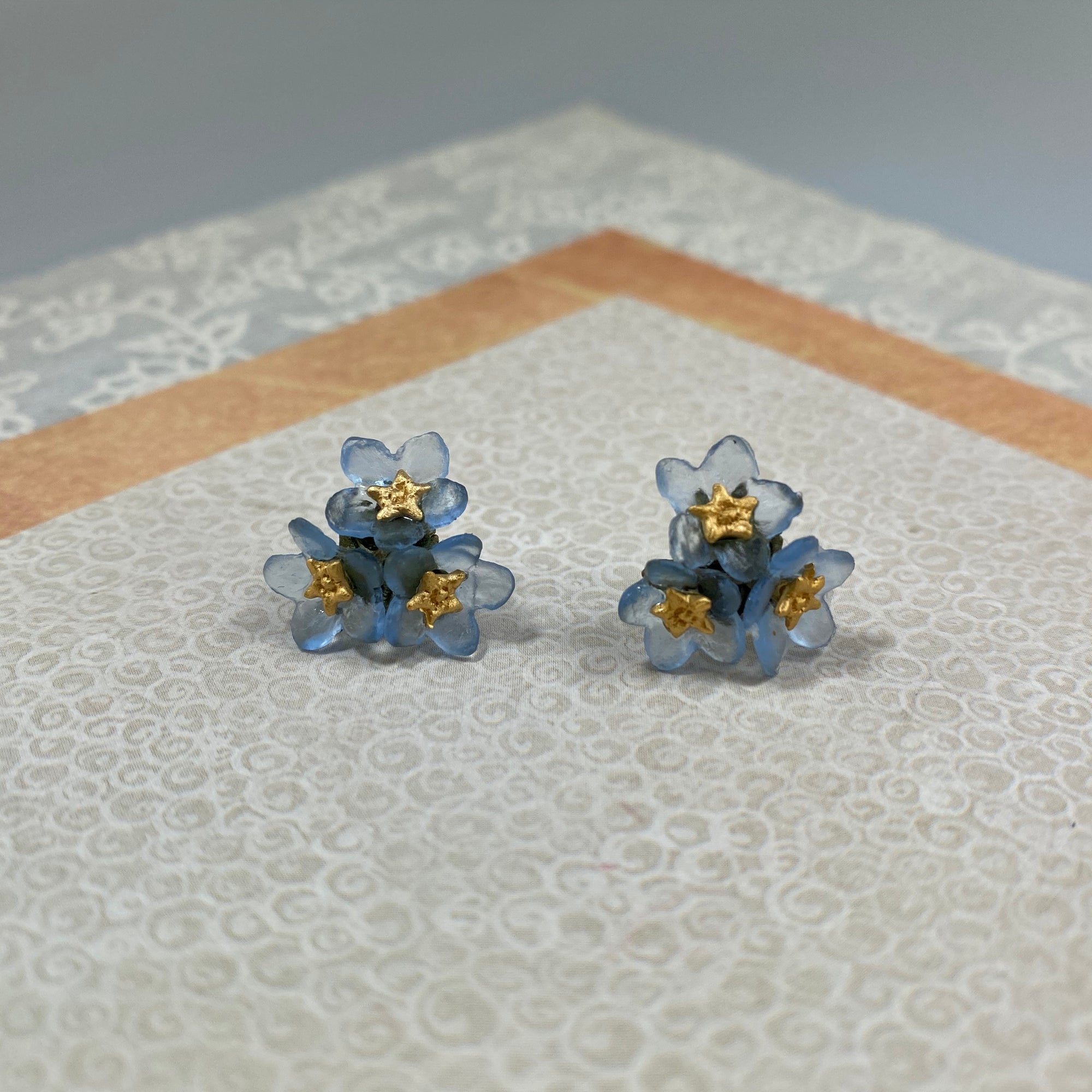 Forget Me Not Triple Flower Post Earrings - Heart of the Home PA