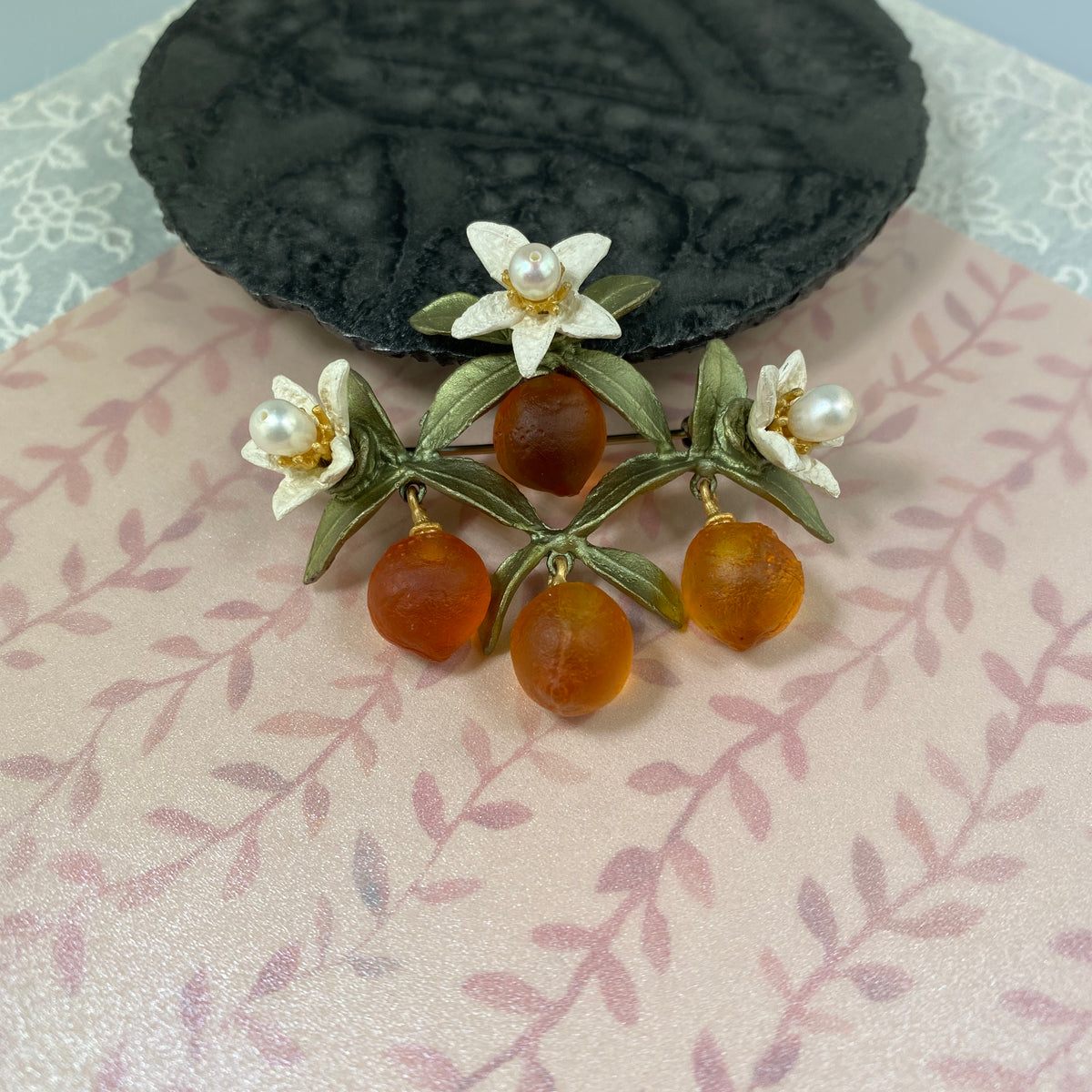 Orange Leaf Brooch - Heart of the Home PA