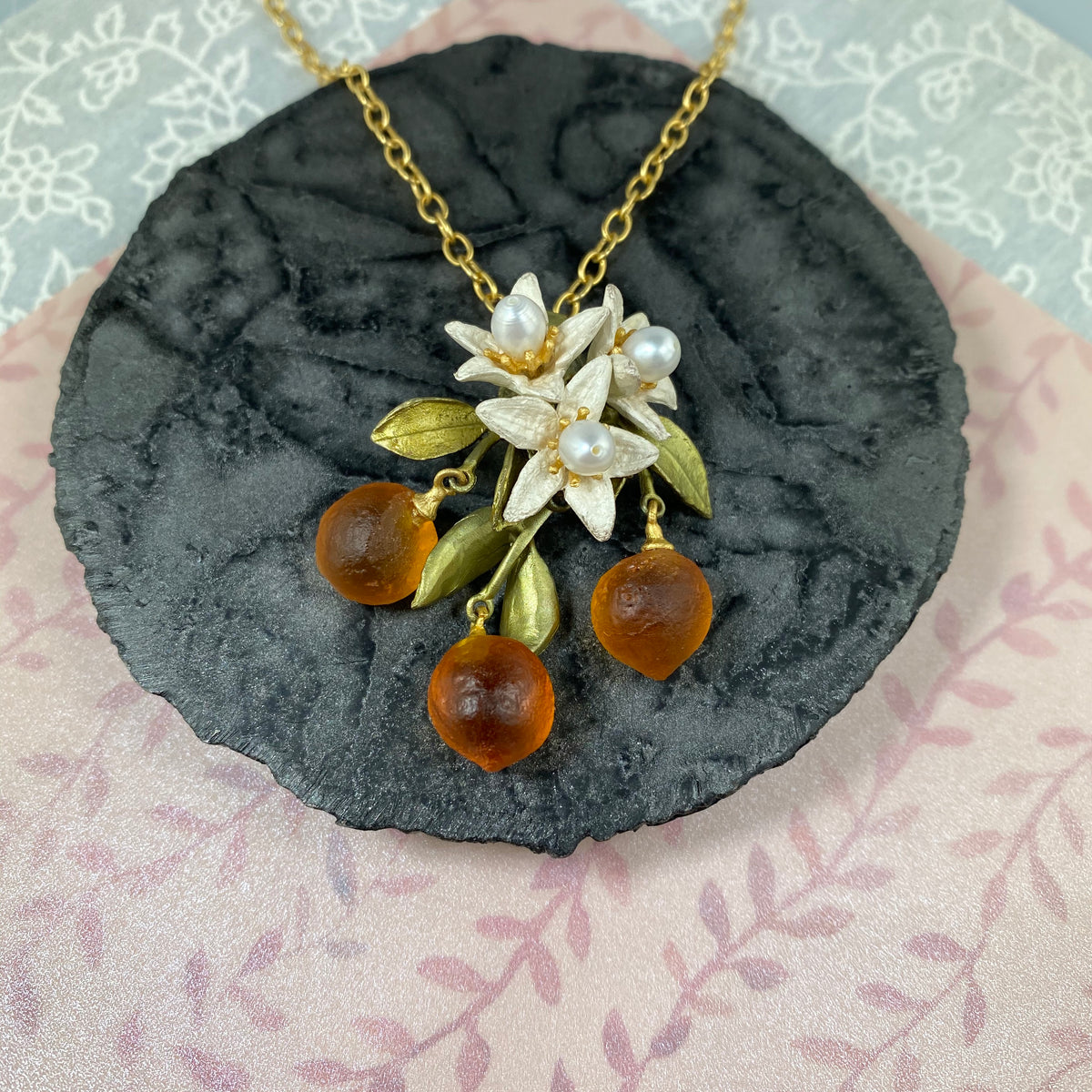 Orange Pendant - Flower Drop - Heart of the Home PA