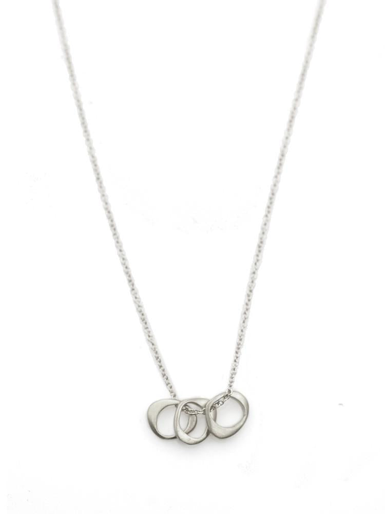 Three Tiny Silver Circles Necklace - Heart of the Home PA