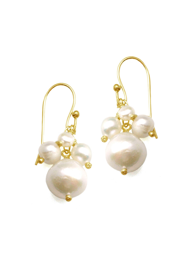 Pearl Cluster Earrings - Heart of the Home PA