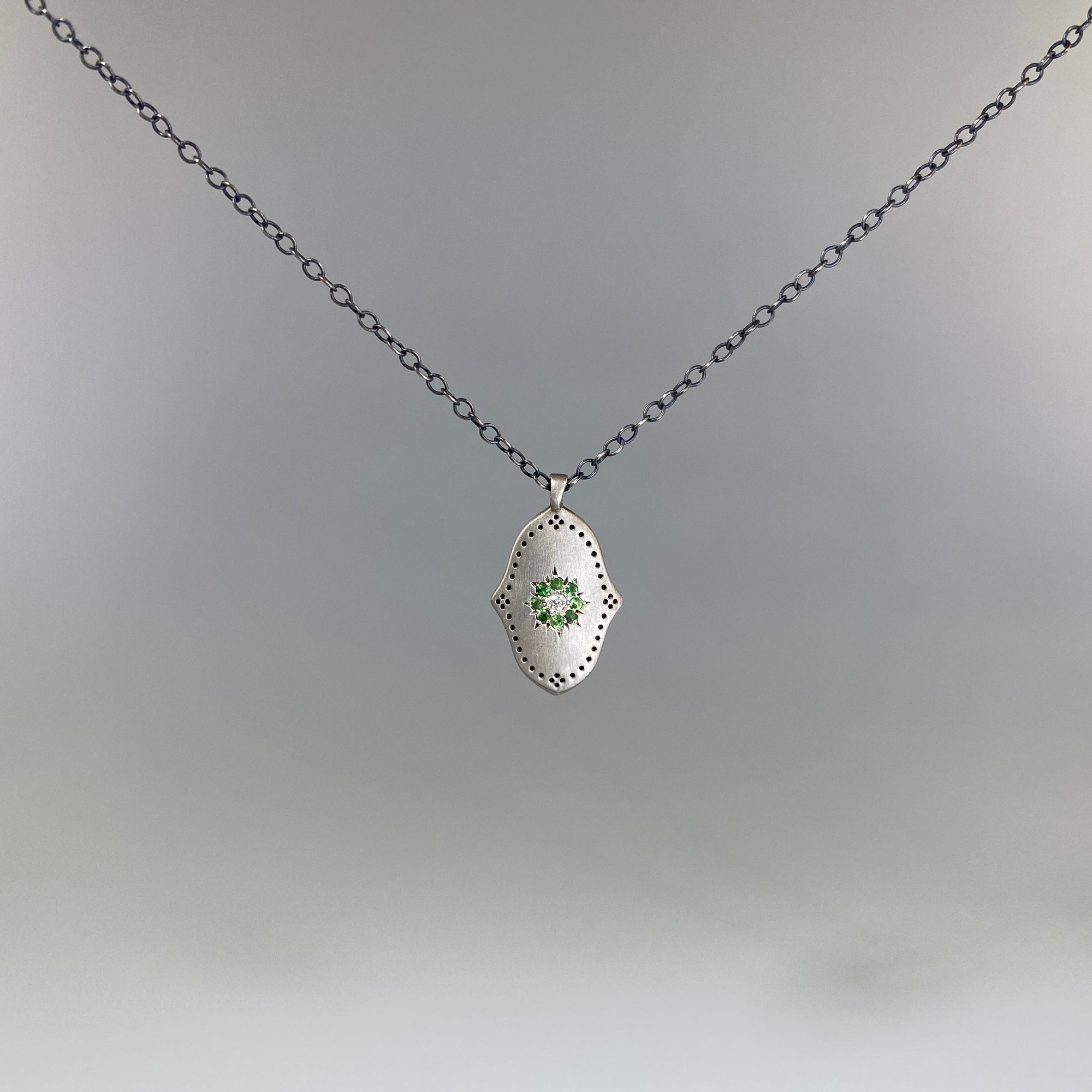 Grace Tsavorite Pendant - Heart of the Home PA
