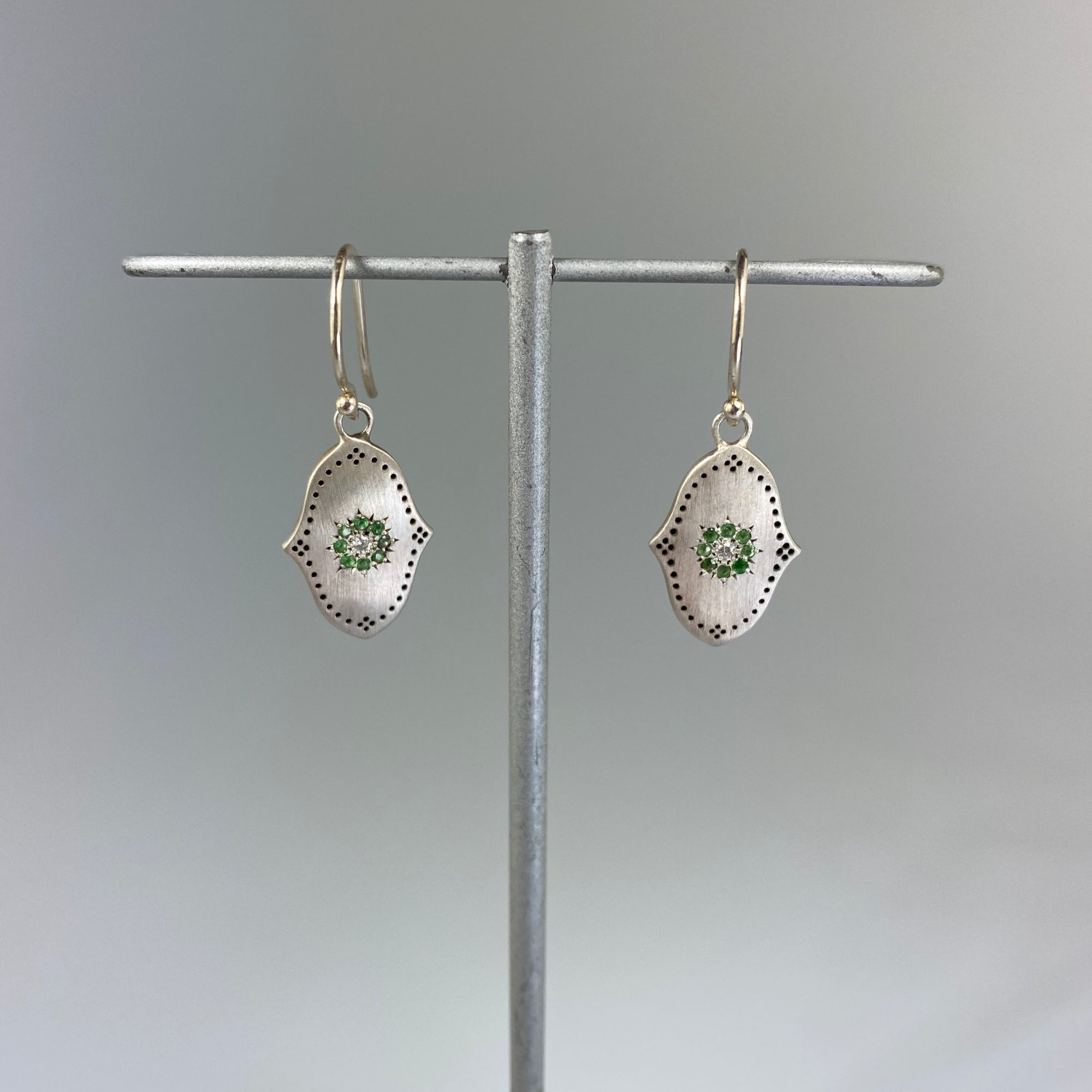Grace Tsavorite Earrings - Heart of the Home PA