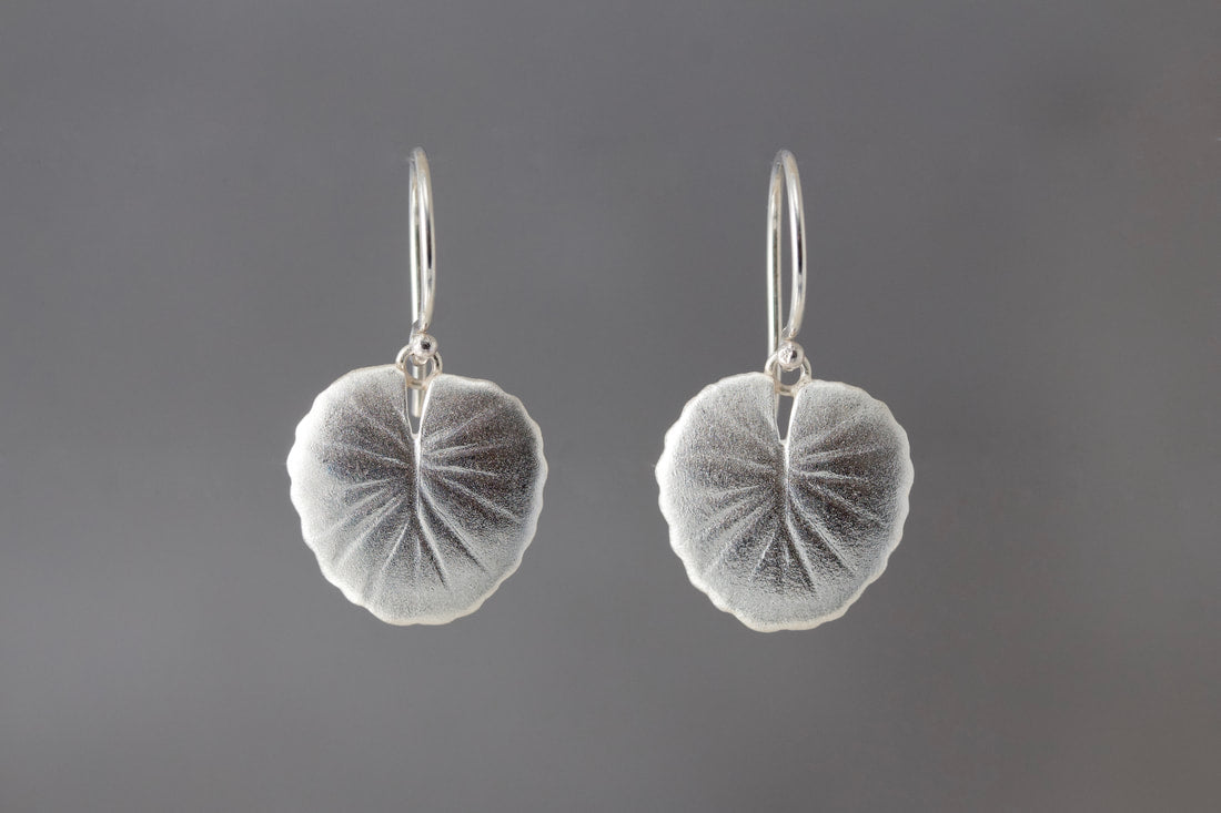 Waterlily Lily Pad Loop Earrings - Heart of the Home PA