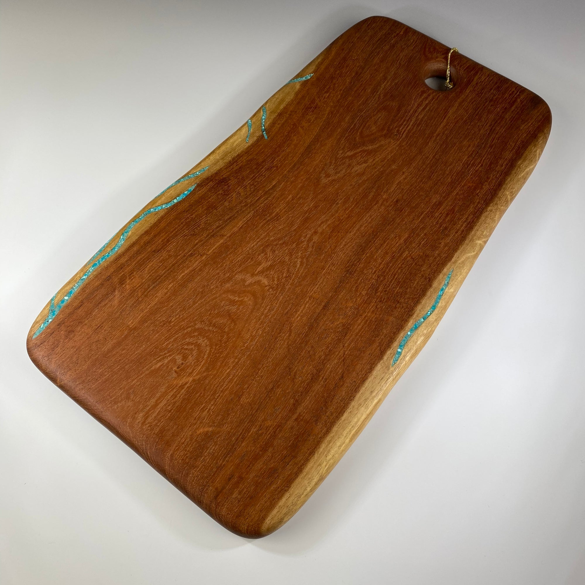 Sidelines Mesquite Board with Turquoise - Heart of the Home PA