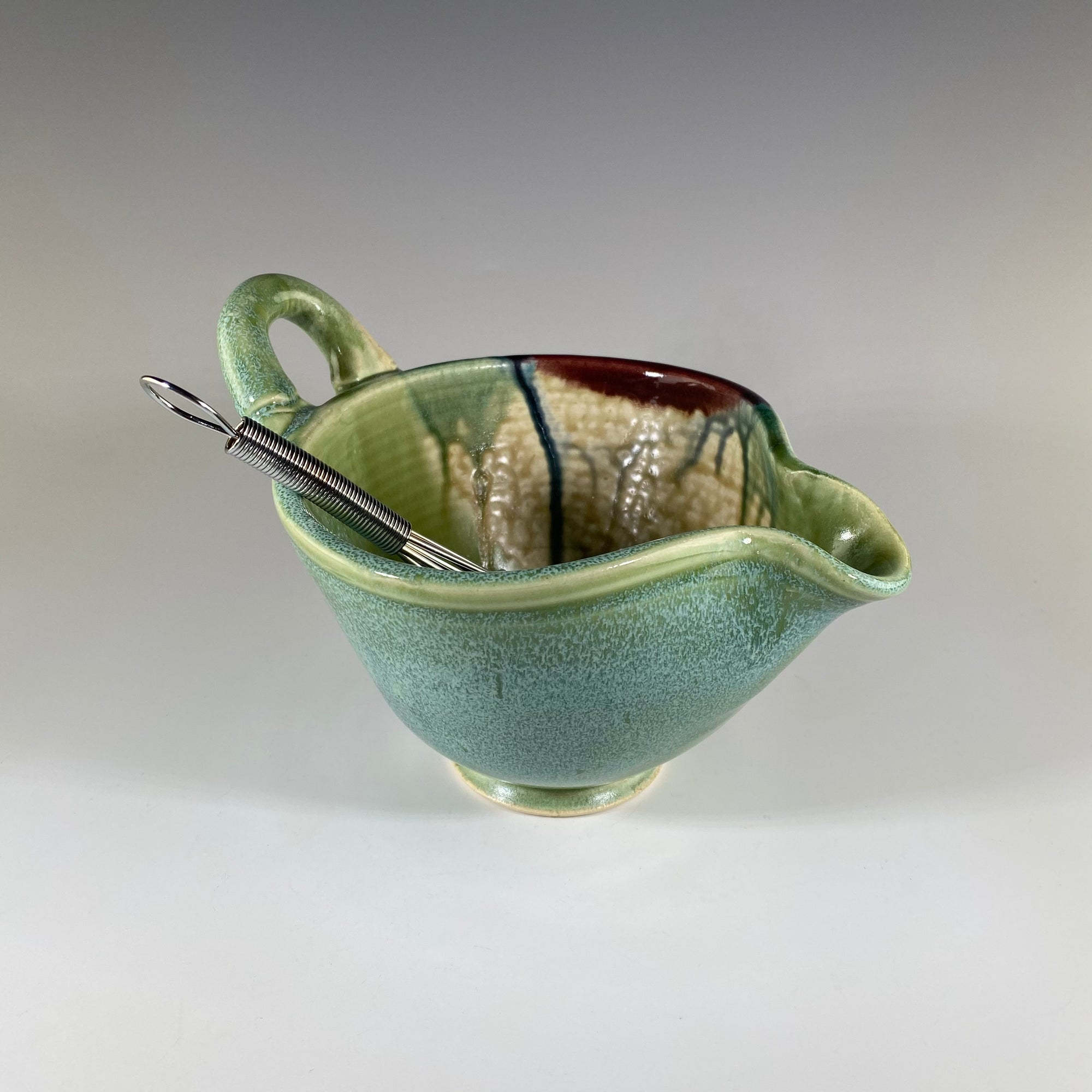 Small Mixing Bowl in Light Green and Tan - Heart of the Home PA