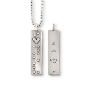 "Braille ""I Love You"" Pendant"