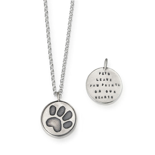 Pets Leave Paw Prints On Our Hearts Pendant - Heart of the Home PA