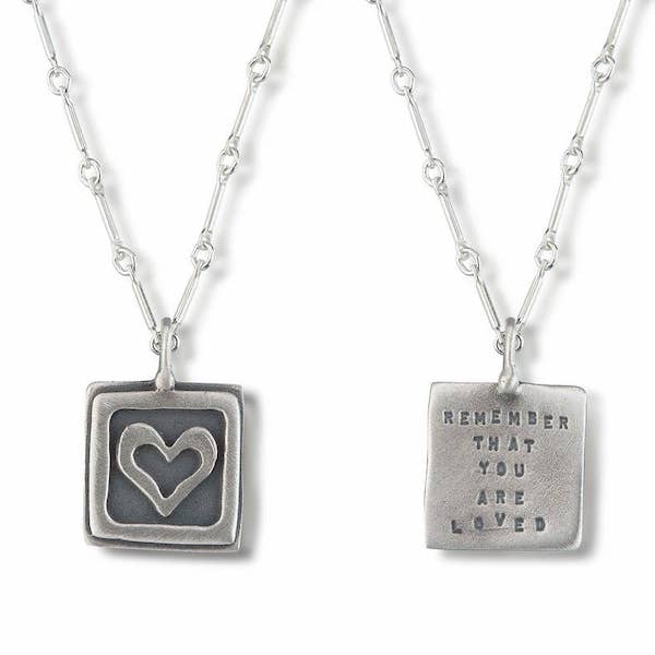 Remember Your Are Loved Pendant - Heart of the Home PA