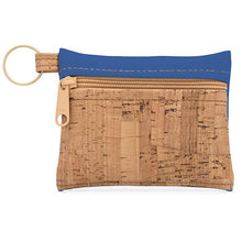 Load image into Gallery viewer, Key Chain Cork Pouch with Royal Blue