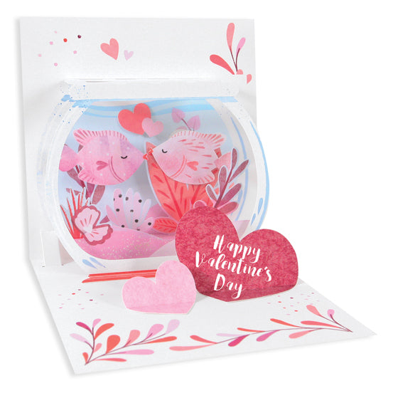 Kissing Fish Pop-Up Card - Heart of the Home PA