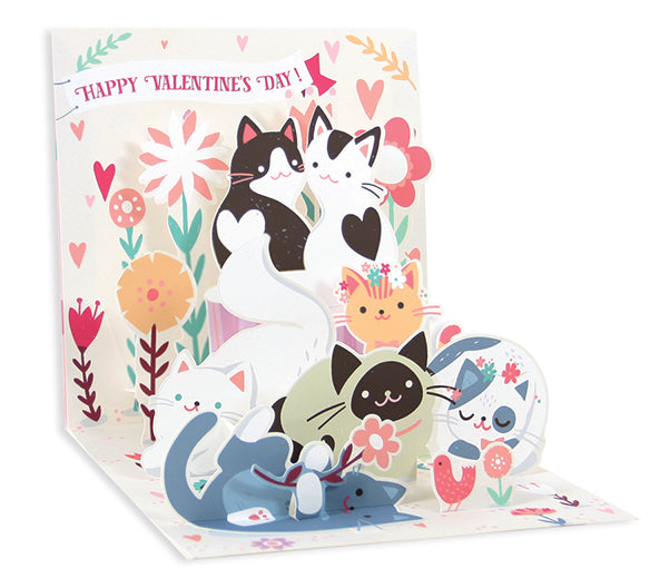 Kitty Love Pop-Up Card - Heart of the Home PA