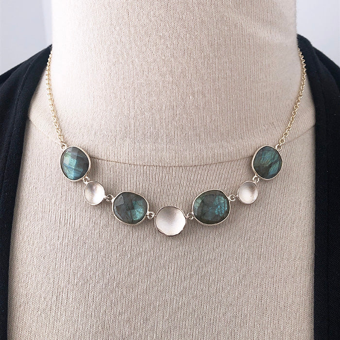 Labradorite Stepping Stone Necklace