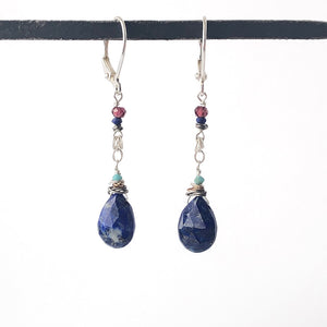 Lapis Droplet Earrings