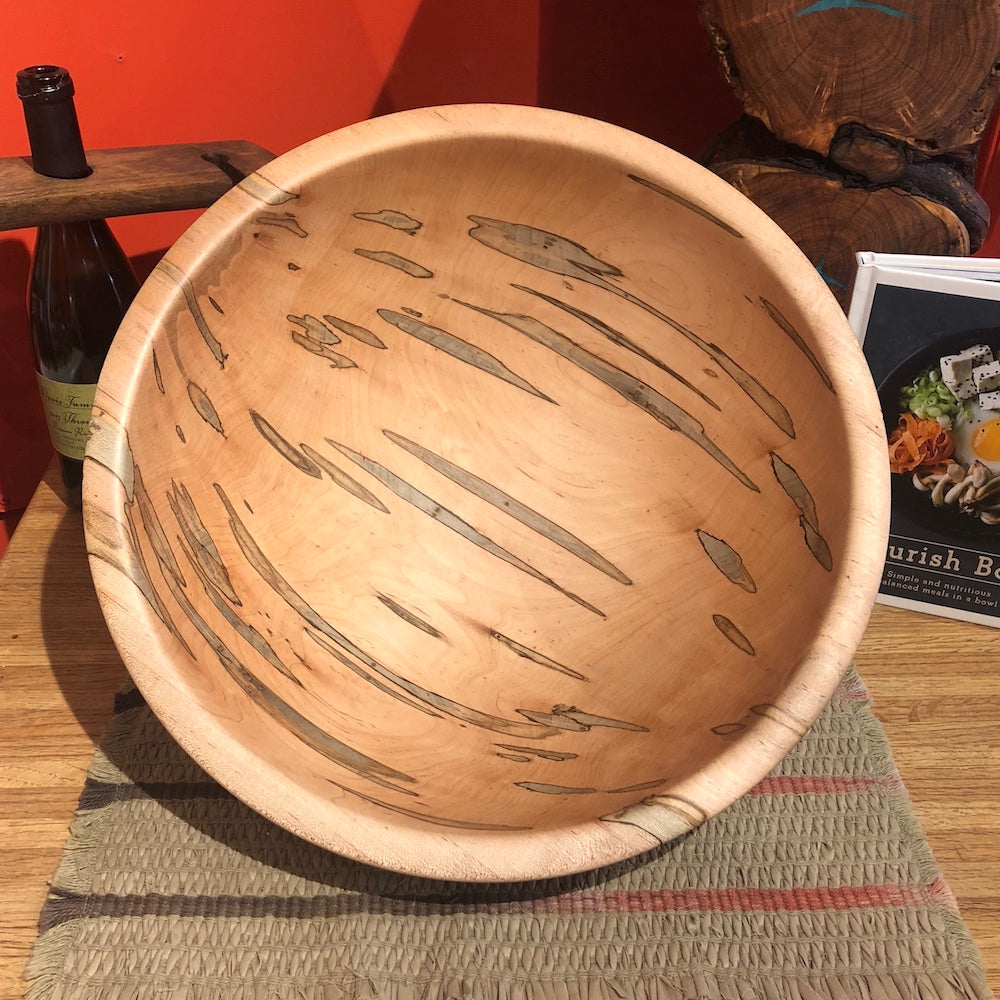 Large Traditional Maple Bowl