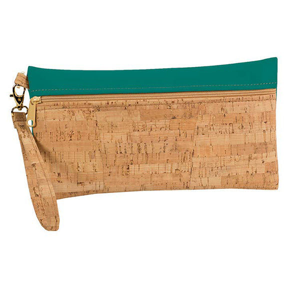 Large Cork Wristlet with Peridot Green - Heart of the Home PA