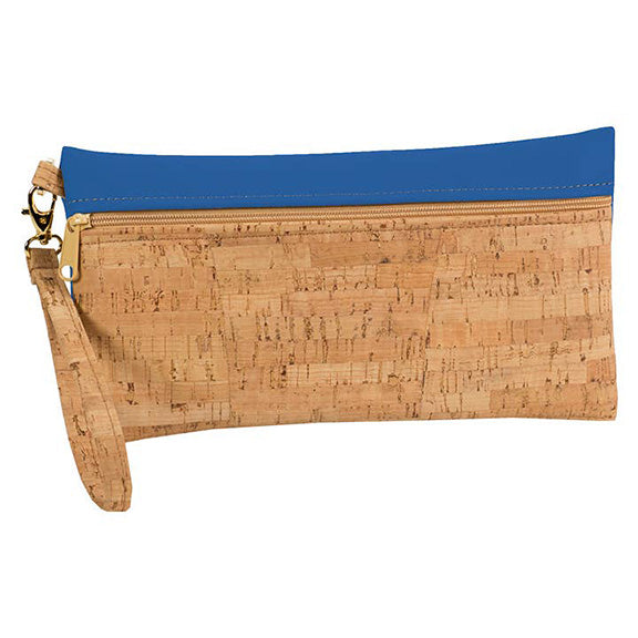 Large Cork Wristlet with Royal Blue - Heart of the Home PA