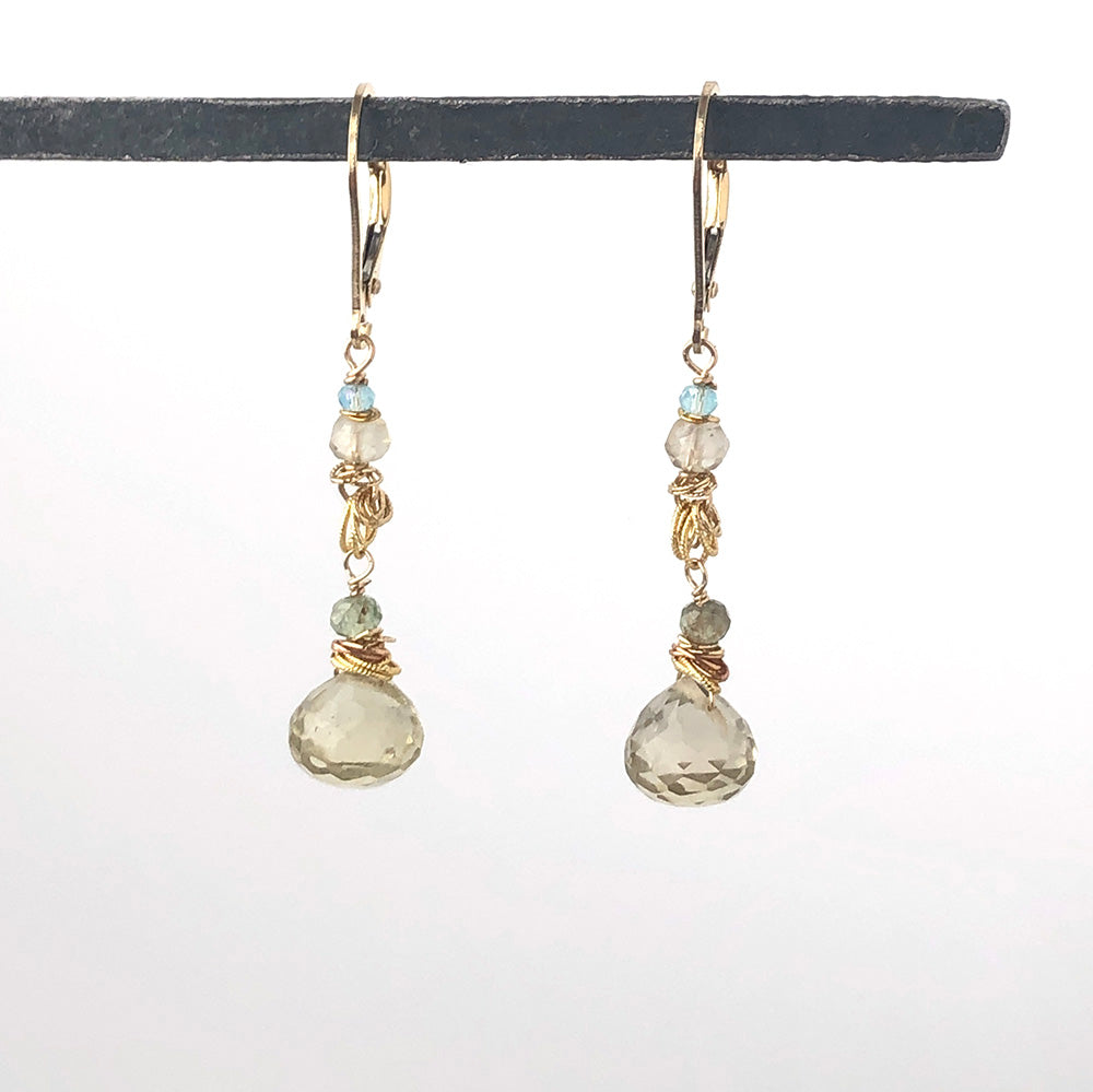Lemon Quartz Drop Earrings - Heart of the Home PA