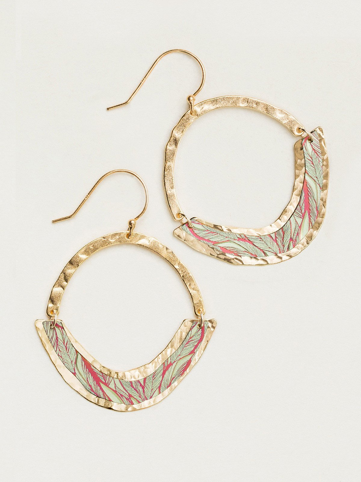 Leona Earrings in Living Coral - Heart of the Home PA