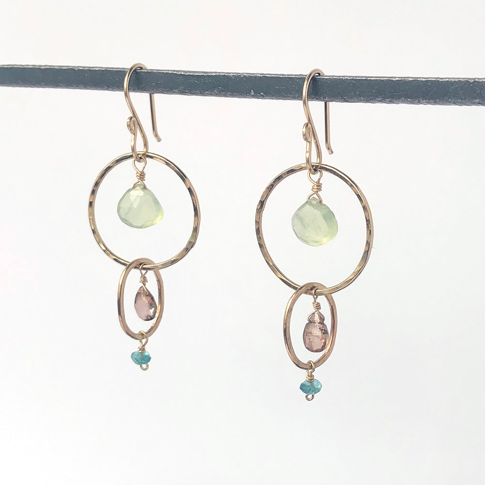 Linked Loops Earrings in Cove - Heart of the Home PA