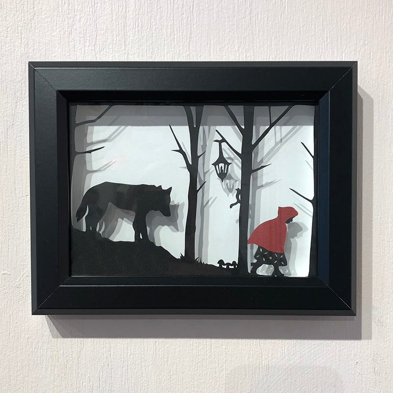 Red + The Wolf Black Frame - Heart of the Home PA
