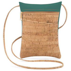 Lively Mini Cork Bag with Peridot Green