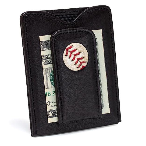 New York Mets Game Used Baseball Money Clip Wallet - Heart of the Home PA