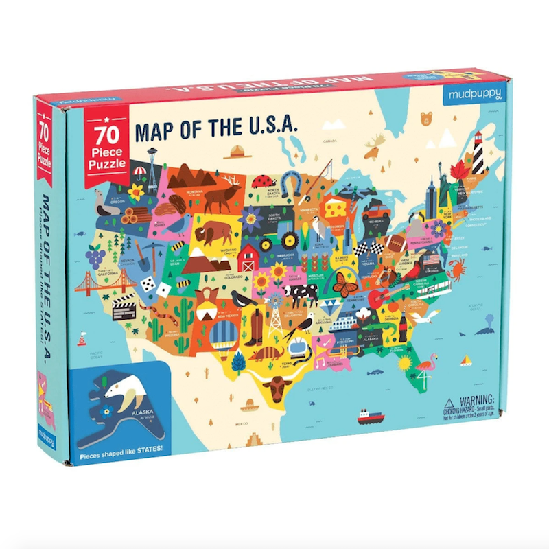 Map of the United States 70 Piece Puzzle - Heart of the Home PA
