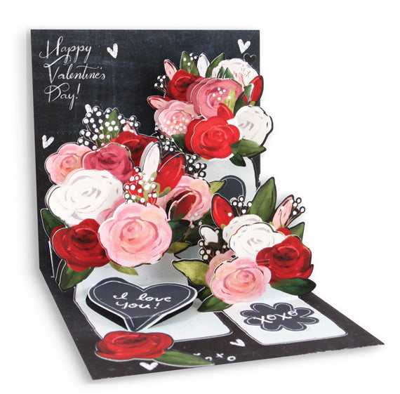 Mason Jar Roses Pop-Up Card - Heart of the Home PA
