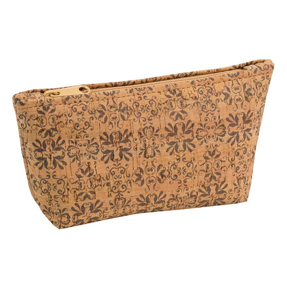 Medium Cork Pouch in Mammoth Grey Print - Heart of the Home PA